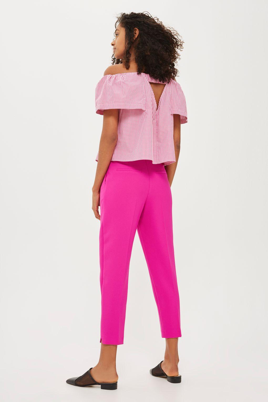 Topshop Pink Split Hem Trousers